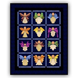 Last One!  - Angels!  Batik Quilt Kit Free US Shipping!