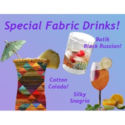 Fabric Cocktails - APRIL FOOLS!  BUT, GET YOUR FREE MARTINI FUN DOWNLOAD