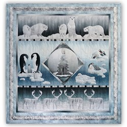 New!  LASER - Arctic Circle Quilt by McKenna Ryan!  <br>Pre-Fused/Laser Cut Applique<br>Block of the Month or All at Once! -<br>