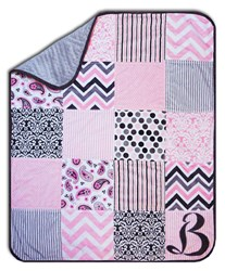 Exclusive Hip Baby Girl Minky Snuggler <i>Includes Backing!</i>