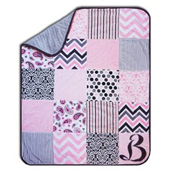 Exclusive Hip Baby Girl Minky Snuggler Includes Backing!