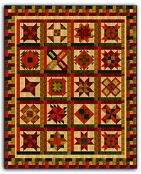 Batik Bright Hopes Earth Tone Quilt Kit -Full Size <br><i>Free US Shipping!</i>