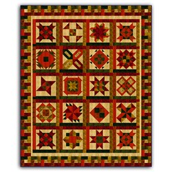 Batik Bright Hopes Earth Tone Quilt Kit -Full Size