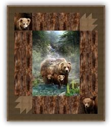More Back in Stock!  Exclusive Gorgeous Bear Valley Deluxe Minky Quilt Kit - Shannon Fabrics