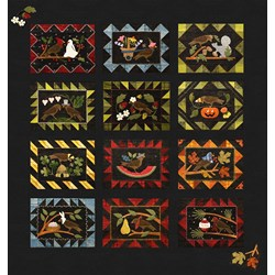 Back in Stock!  Bertie Through the Year ~  Exclusive Quilt Layout! Free US Shipping!