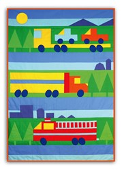 New - Big Trucks!  Child Quilt Kit