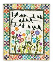 More Back in Stock!  Bird on a Wire Quilt Kit  - 2 Applique Options