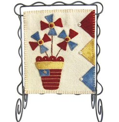 Bitty Banner Wool Applique - July Kit