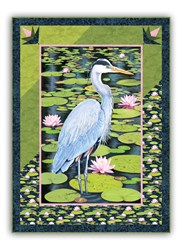 The Silent Blue Heron Wall Hanging - Great Design for Any Standard Panel