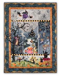 New!  Boo Moon TRADITIONAL APPLIQUE Quilt Kit - Available as a BOM or as All at Once!  Starts March!