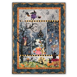 New!  Boo Moon Pre-Fused/ LASER Cut Quilt Kit - Available as a BOM or as All at Once!  Start Anytime!