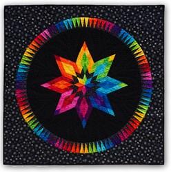 Bright Star on Black Batik Paper Pieced Quilt Kit - ***3 Star