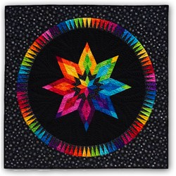 Bright Star on Black Batik Paper Pieced Quilt Kit - ***3 Star