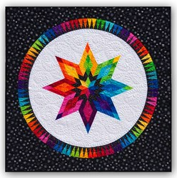 Bright Star on White Batik Paper Pieced Quilt Kit- ***3 Star