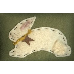 Betsy Bunny Mini Pillow by Homespun Hearth