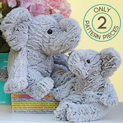 "Shannon Luxe Cuddle Kit ""Ellie's Elephant "" Kit Makes 2 Elephants"