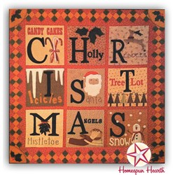 Last One!  Christmas Traditions Wool Applique on Flannel Quilt Kit - Includes Backing