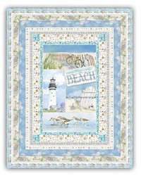 More Back in Stock!  Exclusive Coastal Paradise Quilt Kit - Includes Backing