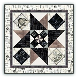 New!  Coffee or Tea, Come Quilt With Me Table Topper Quilt Kit - A Quick & Easy Design!