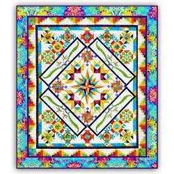 Its Back!  Colorful Tropics Batik Queen Size Quilt Kit
