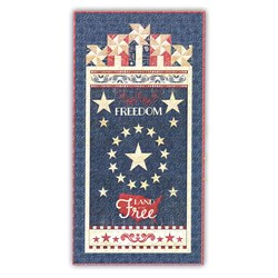 More Back in Stock!Colors of Freedom EASY Rail Banner/Door Hanger Quilt Kit - Includes Backing!