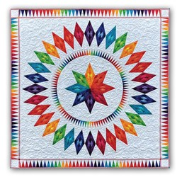 Dazzling Diamonds Batik Paper Foundation Quilt Kit - ****4 Star by Jacqueline de Jonge for BeColourful <br>