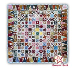 Dear Jane Wool Applique Kit - Monthly Program Fee - 36 Month BOM with Triangle Border