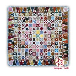 Dear Jane Wool Applique Kit - Monthly Program Fee - 18 Month BOM with Triangle Border