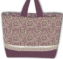 "LAST ONE!  Downton Abbey's ""Dowager Countess High Tea"" Purple Large Tote Kit"