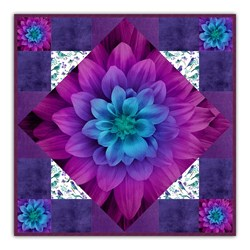New!  Exclusive On-Point Dream Big Aurora  Minky Quilt Kit - Includes Backing!