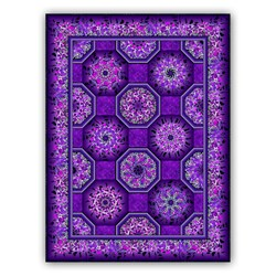 Kaleidoscope Purples Quilt Kit with Backing Fabric - By Jason Yenter for In the Beginning Fabrics - Dreamscapes II