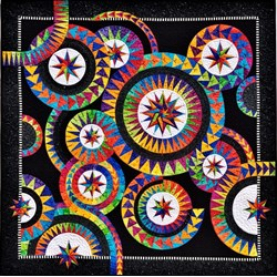 Enchanting Stars  Batik Paper Foundation Quilt Kit - ******6 Star