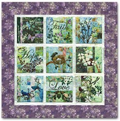 "Vintage Find!  Batik Crocus  ""Faith Hope Love"" Block of the Month or All at Once<br>Start Anytime!"