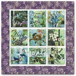 "Vintage Find!  Batik Crocus  ""Faith Hope Love"" Block of the Month or All at OnceStart Anytime!"