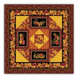 Encore!  Fall Bounty Exclusive & Complete Quilt Kit With Backing