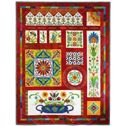 Fiesta Mexico!100% WOOL ON SILK MATKA Block of the MonthStarts July!