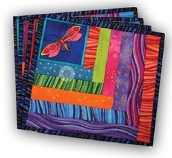 Laurel Burch Flittering Treat Mat  Kits<br> (Makes 4)