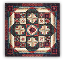 Tonga Forest Floor Batik King Sized Block of the Month or All at Once by Wing and a Prayer - Start Anytime!