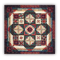 More Back in Stock!  Tonga Forest Floor Batik King Sized Quilt Kit  by Wing and a Prayer Free US Shipping!