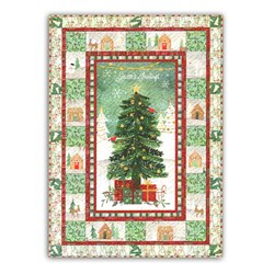 More Back in Stock!  Frosted Holiday Wall Hanging Quilt with Optional Light Pack