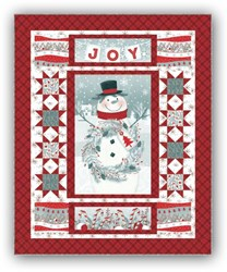 New!  Frosty Friends Flannel Joy Quilt by Jan Shade Beach for Henry Glass Fabrics!