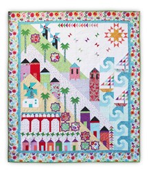 Homespun Hearth's Exclusive - Fun on the Mediterranean!  Light Border Color-Way