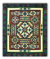 Low Stock!  Gemstones Tonga Batiks Queen Sized Quilt Kit - Includes Backing