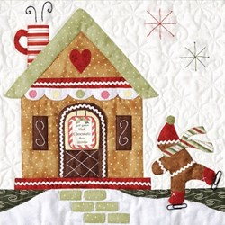 Orphan Block #4 - Gingerbread Village Quilt Kit