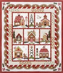 "Orphan Block #7 - ""Assembling the Quilt"" - Gingerbread Village Quilt Kit"