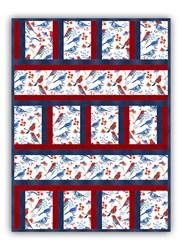 New!  Exclusive Glory Birds Minky Quilt Kit!