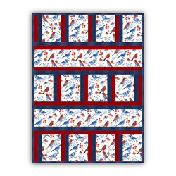 New!  Exclusive Glory Birds Minky Quilt Kit!