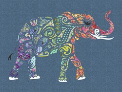 Holi Ganesha Pre-Fused/Laser Cut Fabric Starter Kit