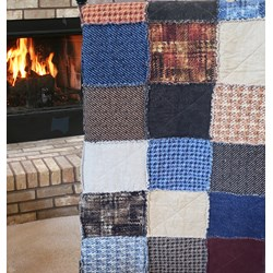 The Colorado Haberdashery Quilt Snuggler  - A Homespun Hearth Exclusive! Includes Backing!