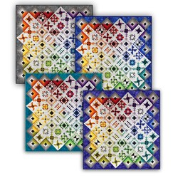 Heritage Square Block of the Monthor  All at Once Quilt Kit - Start Anytime!